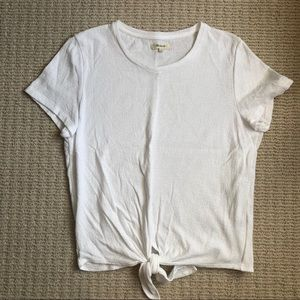Madewell Knotted Tee, Size L